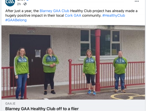 The GAA Recognises Blarney Healthy Club